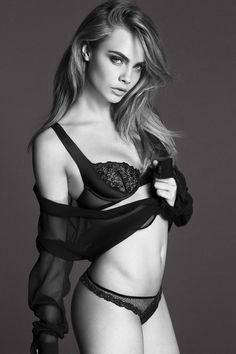 Cara Delevingne for La Perla – Underwear Shoot Revealed (Glamour.com UK) (Glamour.com UK)
