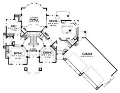 Grand Entry House Plan | Grand Entry And Split Staircase