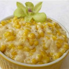 Cream Corn Like No Other Recipe with frozen corn kernels, heavy cream, salt, granulated sugar, ground black pepper, butter, whole milk, all-purpose flour, grated parmesan cheese