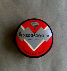Vintage Typewriter Ribbon Tin  Thorobred Brand  by susantique