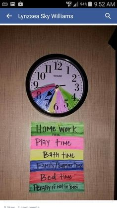 Clock timer! Good idea