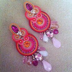 DIY Tutorial soutache: Frida earrings by AdelsLaboratory on Etsy