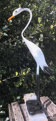 Handmade PVC Pipe Birds Yard Garden Decor Seagull Small birds are to depending on the posture without the base. Small birds come with the base as pictured. Pvc Pipe Crafts, Pvc Pipe Projects, Container Gardening, Gardening Tips, Metal Pipe, Outdoor Crafts, Bird Sculpture, Blue Heron, Ficus