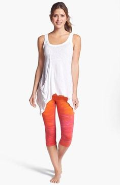 Sunset-inspired workout leggings. http://www.FitnessApparelExpress.com