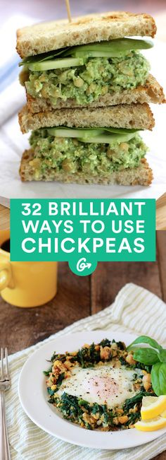 32 Creative Ways to Use Chickpeas (That Aren't Hummus) - We've come up with more than 30 original dishes to dig you out of your hummus hole - Bean Recipes, Veggie Recipes, Whole Food Recipes, Vegetarian Recipes, Cooking Recipes, Healthy Recipes, Cooking Tips, Healthy Snacks, Healthy Eating