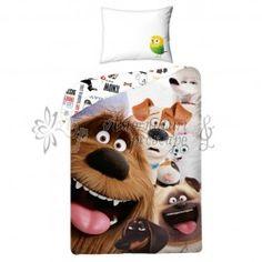Lenjerie de pat din bumbac pentru copii Secret life of pets USP005