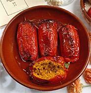 Segundos Pimientos con carne Pimientos Rellenos de Arroz