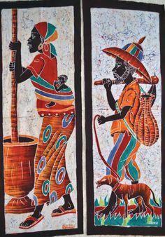 African Art African Batik African American by Boriquahafrikanah,