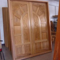 wood carved front doors for reference - Kerala home Front Door Design Wood, Main Door Design, Indian Home Design, Kerala House Design, Simple House Design, Modern House Design, Free House Plans, Beautiful Front Doors, House Front Door