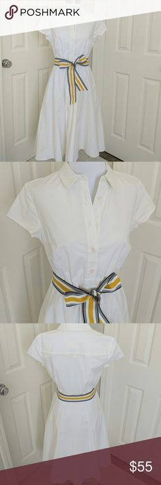 Boden sophia white shirt dress size US 6Long NWT Boden sophia white shirt dress size US 6Long, nwt (tag is just button, didn't come with tags like all boden items, but still never worn.) Boden Dresses