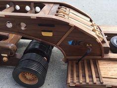 Kenworth and 48 Wheel Lowboy Trailer Wooden Toy Trucks, Wooden Car, Woodworking Toys, Woodworking Projects, Auto Lego, Model Truck Kits, Legos, Steel Art, Truck Design