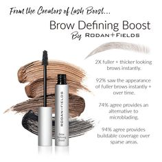 ***Coming in August*** Rodan+Fields just came out with their newest product.. Brow Defining Boost! Immediate results, coupled with a growth serum that will fill in brows over time! No more microblading needed! Rodan And Fields Regimen, Rodan Fields Skin Care, Fill In Brows, Full Brows, Roden And Fields, Eyebrows, Eyeliner, Thick Brows, Beauty Care