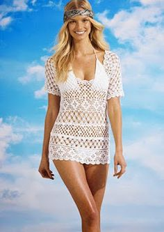 Outstanding Crochet: Crochet Beach Tunic from Free People.