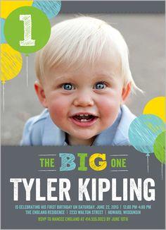 Baby boys 1st birthday invitations shutterfly zanes birthday chalk balloons boy birthday invitation filmwisefo