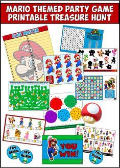 54 ideas mario birthday party games for kids Mario Party Games, Office Party Games, Birthday Party Games For Kids, Kids Party Themes, Party Ideas, 8th Birthday, Birthday Ideas, Mario Birthday Banner, Super Mario Birthday