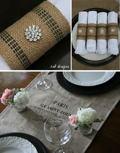 Modern Country Designs: Burlap Decor