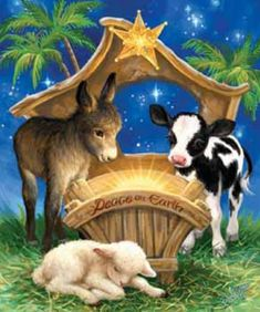 Born in a Manger Jigsaw Puzzle | Religious & Inspirational | Vermont Christmas Co. VT Holiday Gift Shop
