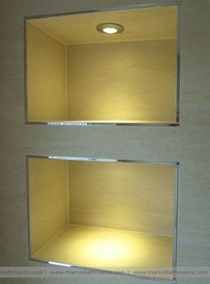 Bathroom Lighting Advice contemporary cloakroom / powder room great to find recessed niches