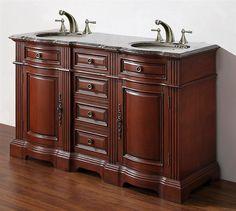 Traditional Double Sink Bathroom Vanity Wm6584 58 By Legion Furniture