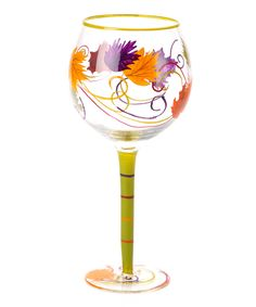 DEI Swirling Leaf Wine Glass