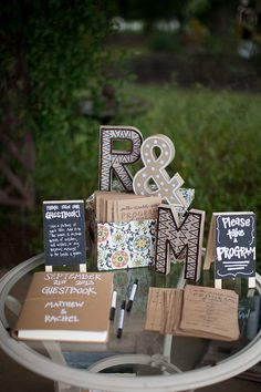 handmade guest book and program | Katherine Stinnett Photography | Glamour & Grace