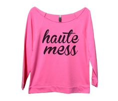 Haute Mess Womens 3/4 Long Sleeve Vintage Raw Edge Shirt