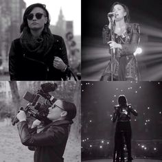 Demi Lovato on the music video set for Nightingale