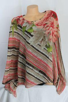 C J Banks Shirt Top Blouse Plus 2X Womens Shell Tank Brown coral tan 2 pieces #CJBanks #Blouse #Career
