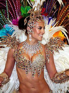 """Queen of the Drums"" Carnaval 2012 in Rio de Janeiro, Brazil"