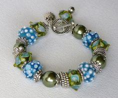 Beachside Handmade Beaded Bracelet by bdzzledbeadedjewelry on Etsy, $34.00