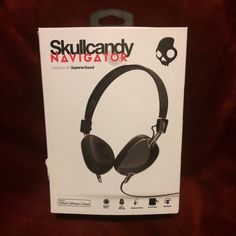 SkullCandy Navigator Headphones(Black) Works perfect! Never used. Missing travel bag when bought😢 small tear in packaging but great condition otherwise. Instructions included. Feel free to ask any other questions you have please! Skullcandy Other