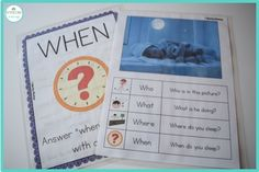 I work with students ages 3 through 2nd grade. I feel like I target WH questions every single day (probably because I do!). I made these awesome grab and go WH question materials using real picture…