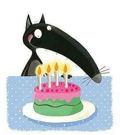 Loup gâteau anniversaire                                                                                                                                                     Plus