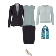 How to wear your navy suit to suit your colouring - Light woman- http://www.lookingstylish.co.uk/your-personalised-colour-dossier/