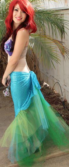 DIY Mermaid Costume  Ariel The Little Mermaid How To  Pursebuzz i6gpzmSG