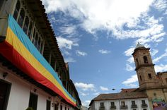Vista de la Plaza Principal de Zipaquirá Colombia Foto Angelito Baldrich