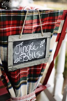 Jingle Bells chalk sign from my Front Porch Hot Cocoa Party :: Part 2