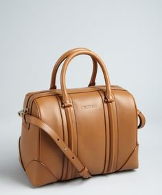 Givenchy brown leather 'Lucrezia' bowling bag