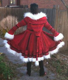 MADE TO ORDER The Mrs Claus Recycled Sweater by CraftedByAuntyEm, $445.00