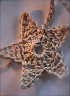 Star Garland - can even crochet it all joined together.