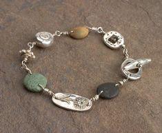 Metal Clay and Mixed Media Book Metal Clay Jewelry, Sea Glass Jewelry, Fine Jewelry, Silver Jewellery Indian, Silver Jewelry, Polymer Clay, Mixed Media, Jewelry Design, Pottery