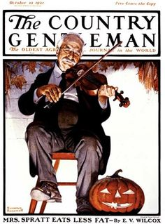 """Halloween Fiddler""  By Norman Rockwell  October 22, 1921---I love Norman Rockwell!!"