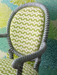 Manuel Canovas- Green/MBR.Manuel Canovas fabrics available through Jane Hall Design