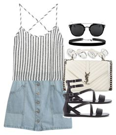 """""""Style #10096"""" by vany-alvarado ❤ liked on Polyvore featuring Chicnova Fashion, Kain, ASOS, Yves Saint Laurent and Forever 21"""