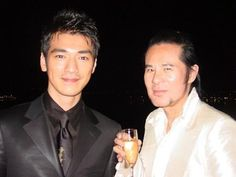 Kwok-Leung Gan with Takeshi Kaneshiro Cannes Film Festival 2004.