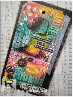Tag feito com produtos Mixed Media by Tim Holtz Para comprar os produtos usados na Tag clique no link a seguir: http://www.oficinadememorias.com.br/departamentos/marcas-1/tim-holtz.html