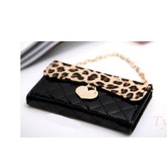 5c4d9c5f8e0 Sonyca New Arrival Fashion Leopard Wallet Purse Handbag Design Soft Leather  Case Cover For iphone (Black) with Sonyca Stylus Pen