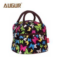 AUGUR Brand New Fashion Waterproof Lunch Box Handbags Korean Small Bags Printing Flowers Square Bag Wholesale #Affiliate