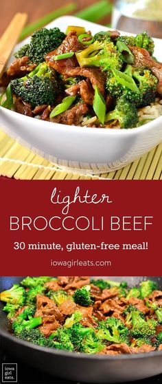 Lighter Broccoli Beef Never order Broccoli Beef takeout again! My copycat, gluten-free Lighter Broccoli Beef is easy to whip up and much lower in fat and sugar than a restaurant's. Gf Recipes, Dairy Free Recipes, Asian Recipes, Cooking Recipes, Healthy Recipes, Cooking Tips, Lunch Recipes, Sugar Free Recipes Dinner, Cooking Lamb