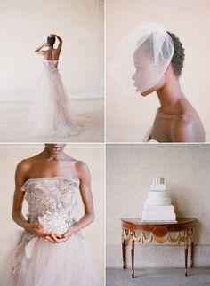 Veils. Short haired natural bride. via natural Belle